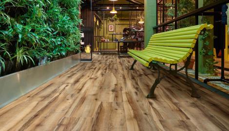 Fußboden Schlafzimmer Xl ~ Walnut effect vinyl flooring moduleo